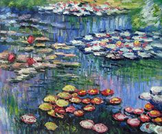 Monet - Water Lilies (pink).  One of overstockArt's most popular paintings for 2014. Hand painted reproductions are available in a variety of sizes at overstockArt.com.