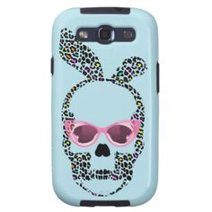 Punk Bunny Skull iPhone Case, Pastel Blue