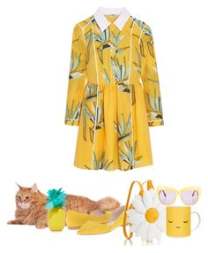 """Find the Cat."" by vii-xxiv ❤ liked on Polyvore featuring Fendi, Marc Fisher LTD, Sunnylife and House of Harlow 1960"