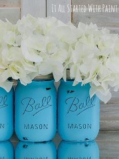 Easily distress mason jars to create a rustic look with this simple tutorial. | shop supplies @joannstores
