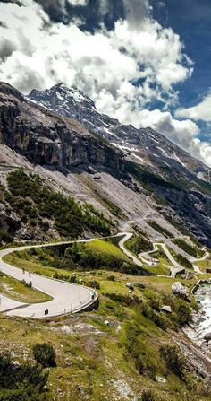 Road in Italian Alps