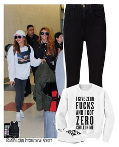"""""""Celebrity Life: Boston Logan International Airport: Boston ✈️ Toronto"""" by jhessicakauana ❤ liked on Polyvore featuring Frame, Kenzo, Off-White, Givenchy, Ray-Ban, life and tour"""