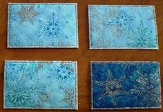 Fabric postcards used as 2010 Christmas cards, Super easy+huge hit with recipients=Yay