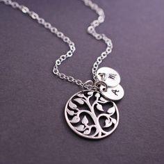 Muttertag Geschenk Stammbaum Halskette Halskette von georgiedesigns