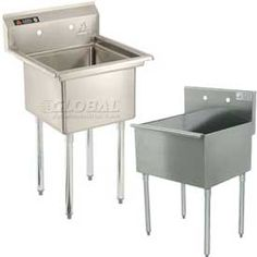 Sinks & Washfountains | Freestanding - 1 Basin Sinks | Freestanding One Compartment Sinks No Drainboards - GlobalIndustrial.com - for utility sink?