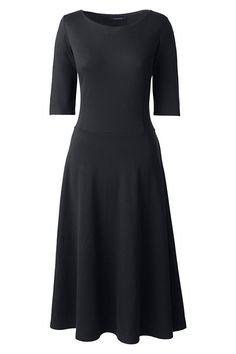 Women's Elbow Sleeve Ponté A-line Dress