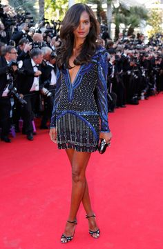 Ethiopian model Liya Kebede made the most of her lithe long legs in a snazzy Roberto Cavalli mini and Jimmy Choo Rumba heels at the Mr Turner showcase All the latest fashion from the 2014 Cannes Film Festival Skirt Fashion, Love Fashion, Fashion Models, Fashion Outfits, Liya Kebede, Roberto Cavalli Kleider, Cannes Film Festival 2014, Cannes 2014, Sheer Mini Dress