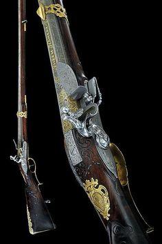 A beautiful flintlock gun from the Royal Bavarian Family, Austria, 18th century.