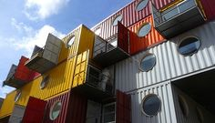 Shipping container multifamily housing.  Photo Courtesy: Estherase/Flickr