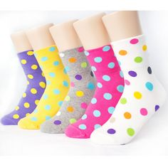 9PAIRS=1PACK DOT COLORS SOCKS Made in KOREA women woman girl big kids funny sox #MADEINKOREA #allStyle