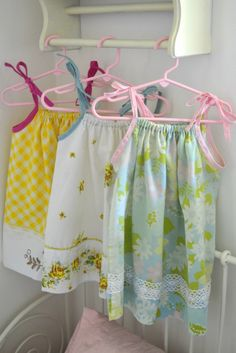 Easy DIY little girls pillow case dresses