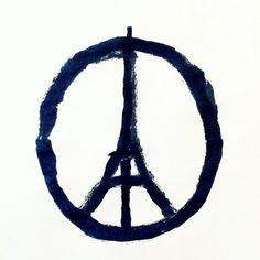 Peace for Paris ❥ #Bansky #Paris
