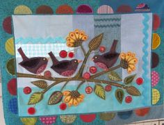 Sue Spargo: Quilt Retreat - SLC  I sure would love to take a folk art quilt class from Sue Spargo.  Her embellishments are amazing!
