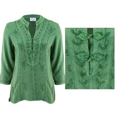 Stonewashed Vine Button Tunic at The Rainforest Site