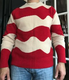 Helmut Lang ombre knit sweater jumper Chunky knitted pullover  uk 12 14