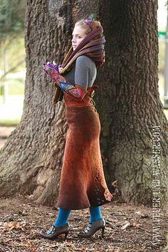 Feuer Und Wasser   Handmade felted art scarves   Made in USA