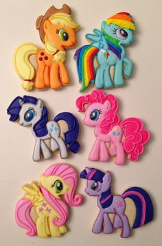 My Little Pony Cookies The Doughmestic Housewife IG @doughmestichousewife