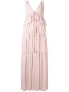 Hermine Silk-satin Midi Dress - Pastel pink Deitas