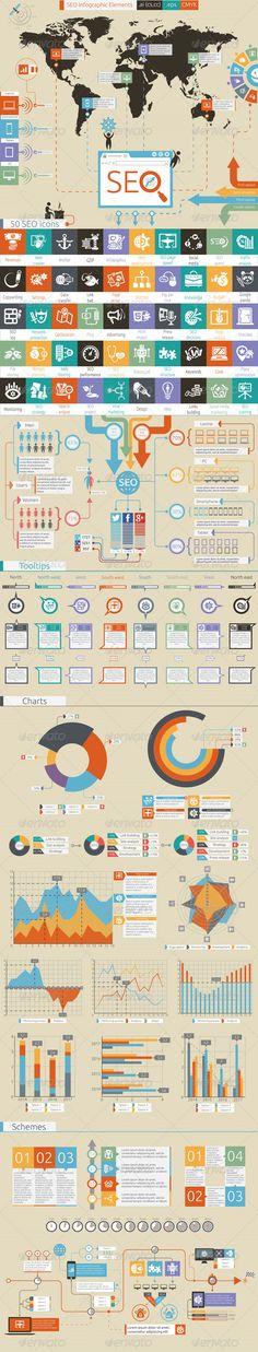 SEO Infographic Template #infografik Download: http://graphicriver.net/item/seo/7490048?ref=ksioks