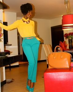 color blocking i want the bag on the side