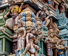 Temple of Sri Kailawasanathan Swami Devasthanam Kovil Nature Pictures, Temples, Rooftop, Whimsical, Lion Sculpture, Statue, God, Photos, Dios