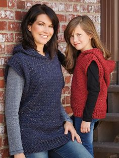 New Crochet Patterns - ANNIE'S SIGNATURE DESIGNS: Hooded Sweater Vest Crochet Pattern