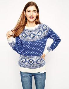 fair isle holiday sweater