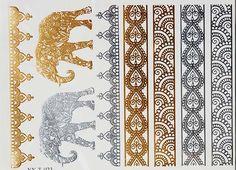 Metallic Tattoos Henna Tattoos Gold Tattoo Henna by SkinJewels
