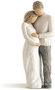 Amazon.de: Willow Tree 26252 Figur Familienglück, 5, 1 x 3, 8 x 21, 6 cm, Natur, Holz