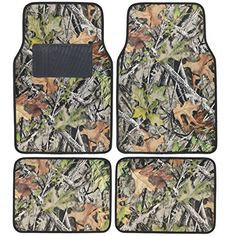 BDK Camo Floor Mats  4 Piece Full Set for Car Truck Van Rubber Backing All Weather Heavy Duty Protection *** More info could be found at the image url. (This is an affiliate link and I receive a commission for the sales)