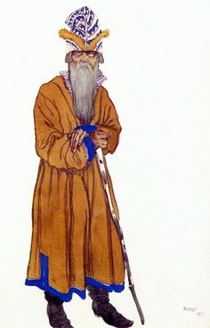 Садко один из хористов 1917. Леон Бакст