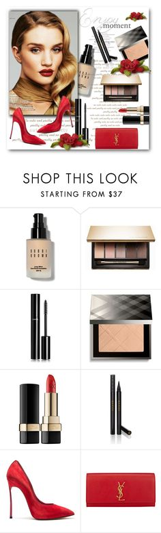 """""""Beauty with accessories, shoes and purse!"""" by bliznec ❤ liked on Polyvore featuring beauty, Bobbi Brown Cosmetics, Clarins, Chanel, Burberry, Dolce&Gabbana, Gucci, Casadei and Yves Saint Laurent"""