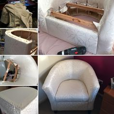 Stage 2 of the tub chair project became the final stage! Most challenging…