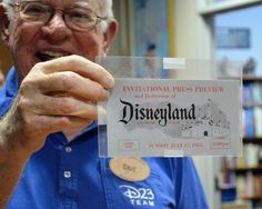 Disneyland ticket for opening day - 1955