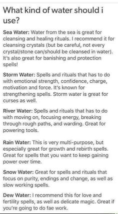 Water use reference guide for Practical Grimoire Writing Tips, Writing Prompts, Witch Board, Wicca Witchcraft, Magick Spells, Wiccan Books, Wicca Wand, Types Of Witchcraft, Wiccan Witch