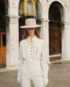 This total white look is a must-have for your upcoming winter wardrobe. Discover the from the collection via link… White Aesthetic, Alberta Ferretti, Winter White, Winter Wardrobe, Panama Hat, Buy Now, Must Haves, Classic, Stuff To Buy