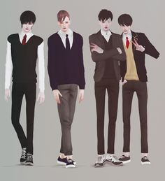 Lana CC Finds - totkr:   [toTkr] School uniform Set. (Male) ...