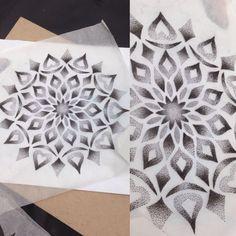 lovely dotwork mandala