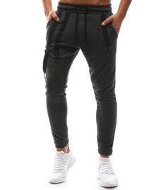 Pánske antracitové teplákové jogger nohavice