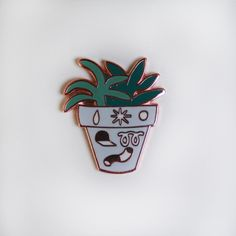 Image of Noodle Planter Pin