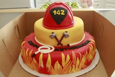 Firefighter Retirement Cake....I'd have to change to say happy birthday of course.