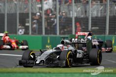 Jenson Button pit stop master of timing, jumped up to a 4th place finish and will be credited with 3rd if Ricciardo's DQ is not over tunred.