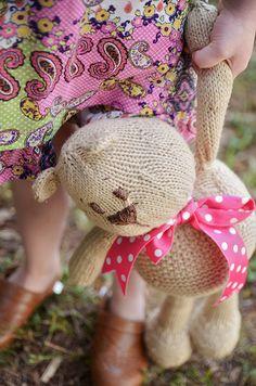 Knit Teddy Bear free pattern