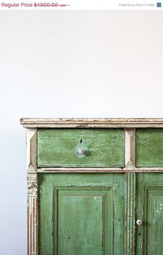 SALE Antique Farm Cabinet / European Painted Cabinet