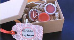 Homemade + DIY Christmas Gift Ideas: Organic Lip Butters