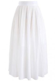Walk On Cloud Asymmetric Ruffle Tulle Skirt in Cream - Retro, Indie and Unique Fashion