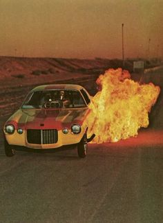 Camaro Funny Car and fire