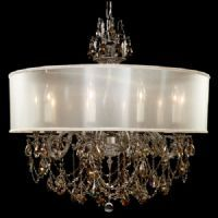 """ABC/Llydia Collection  CH6562-OS-GT-10G-PI-CF Lites: 10 Diameter: 32"""" Body Length: 30"""" Finish: 10G ~ Antique Silver Crystal Package: Oval Strass Golden Teak"""