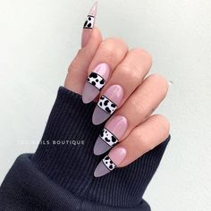 Cute Summer Nail Designs, Cute Summer Nails, Cow Nails, American Nails, Nailart, Sweater Nails, Clean Nails, Classy Nails, Gel Nail Designs