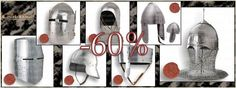 New FLASH SALES until Sunday!! 60% OFF in 7 medieval helmets.